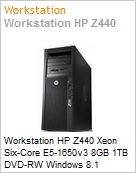 Workstation HP Z440 Xeon Six-Core E5-1650v3 8GB 1TB DVD-RW Windows 8.1 Professional  (Figura somente ilustrativa, n�o representa o produto real)
