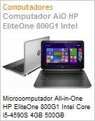 Microcomputador All-in-One HP EliteOne 800G1 Intel Core i5-4590S 4GB 500GB DVD-RW 23 Windows 8.1  (Figura somente ilustrativa, n�o representa o produto real)