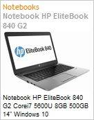 Notebook HP EliteBook 840 G2 Corei7 5600U 8GB 500GB 14 Windows 10 Professional/Downgrade Windows 7 Professional  (Figura somente ilustrativa, não representa o produto real)
