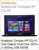 Notebook Compaq HP CQ-18 Intel Celeron Dual-Core 1037U (1.80GHz) 2GB 500GB Windows 8 SL Wi-Fi WebCam HDMI  (Figura somente ilustrativa, n�o representa o produto real)